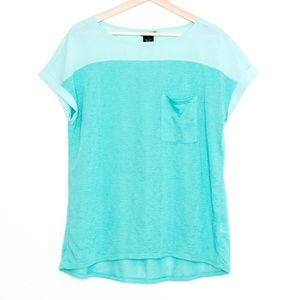 Calvin Klein Jeans Turquoise Tee Womens Large AU